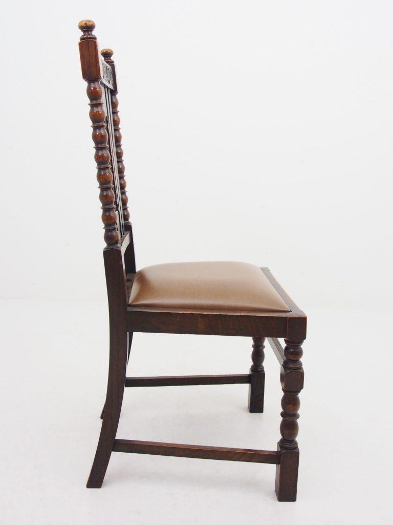 アンティーク家具 ダイニングチェア ハイバックチェア オーク イス 椅子 イギリスアンティーク
