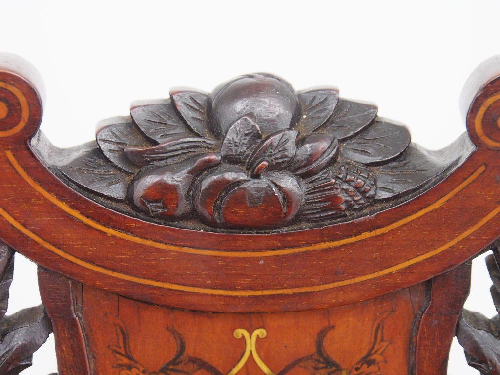 アンティーク家具 イギリスアンティーク家具 チェア ナーシングチェア ナーサリーチェア ヴィクトリアンチェア インレイドチェア マーケットリーチェア