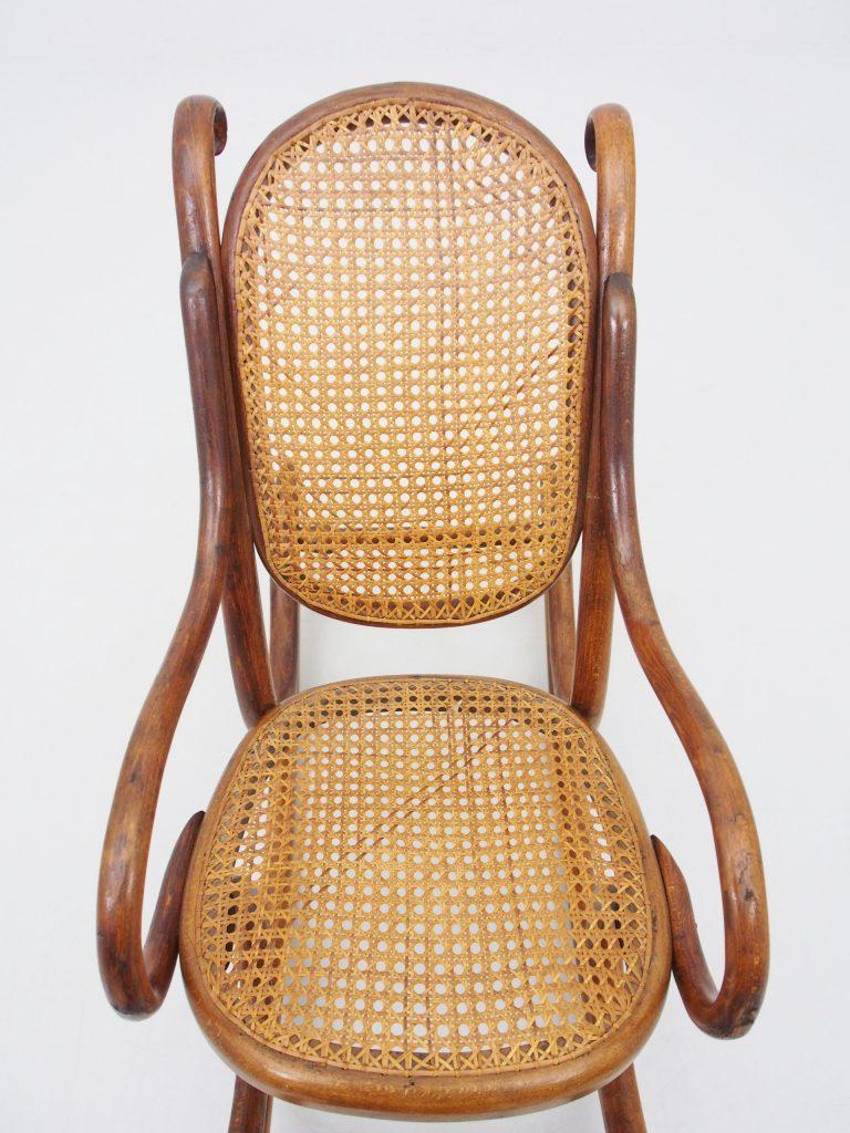 アンティーク家具 イギリスアンティーク ロッキングチェア キッズ 子供用 籐編みチェア 店舗什器 店舗ディスプレイ