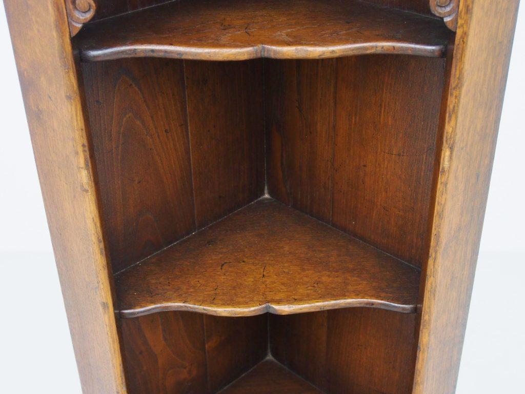 アンティーク家具 イギリスアンティーク コーナーカップボード コーナーキャビネット コーナー収納 オープンシェルフ