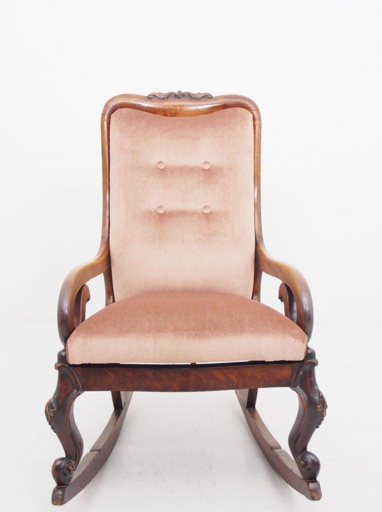 アンティーク家具 ロッキングチェア マホガニー アームチェア 一人掛け 安楽椅子 イージーチェア rockingchair イギリスアンティーク