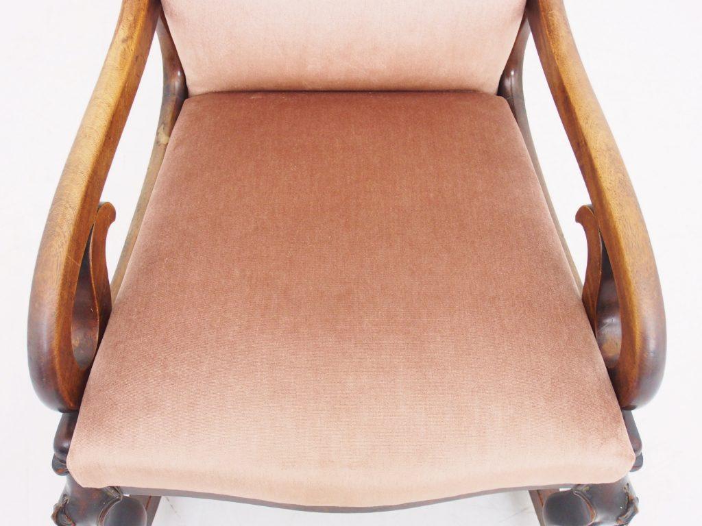 アンティーク家具 ロッキングチェア マホガニー アームチェア 一人掛け 安楽椅子 イージーチェア イギリスアンティーク