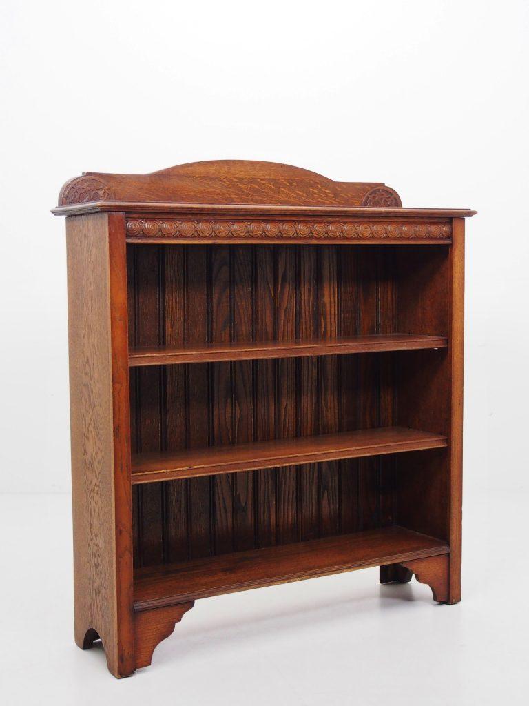アンティーク家具 イギリスアンティーク オープンブック 本棚 ブックケース