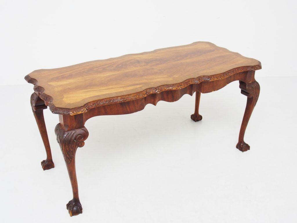 アンティーク家具 イギリスアンティーク コーヒーテーブル ソファテーブル マホガニー ボール&クロウ テーブル