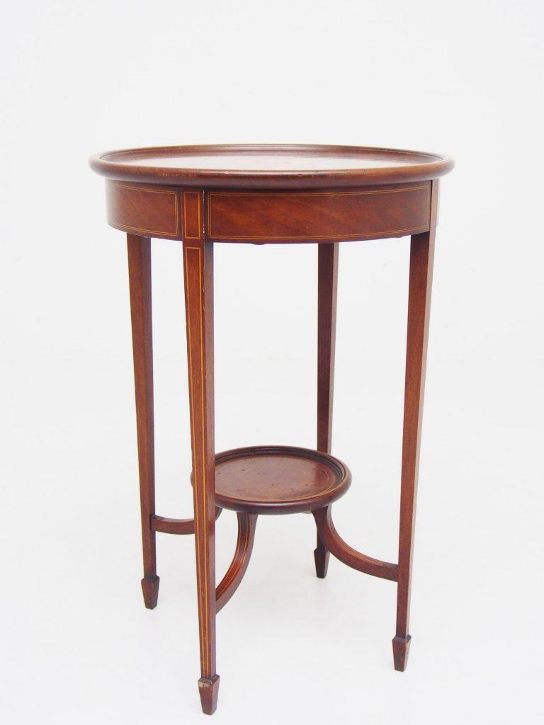 アンティーク家具 イギリスアンティーク マーケットリー インレイド オケージョナルテーブル ティーテーブル サイドテーブル マホガニー