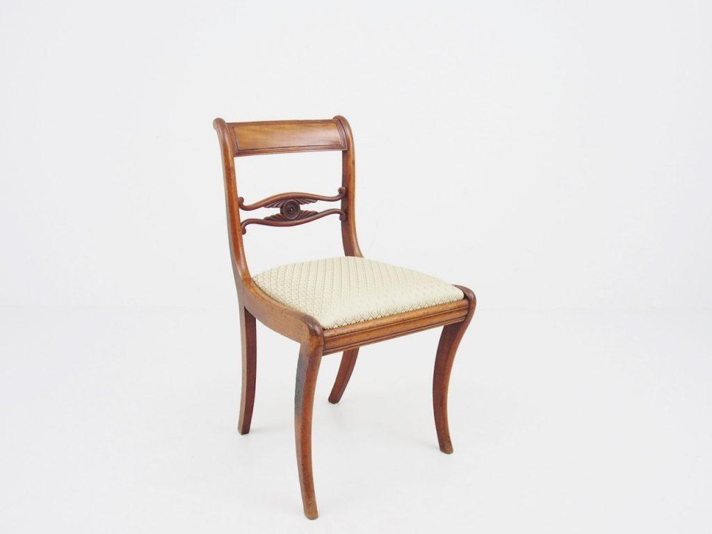 アンティーク家具 イギリスアンティーク ダイニングチェア マホガニー チェア イス 椅子 サーベルレッグ