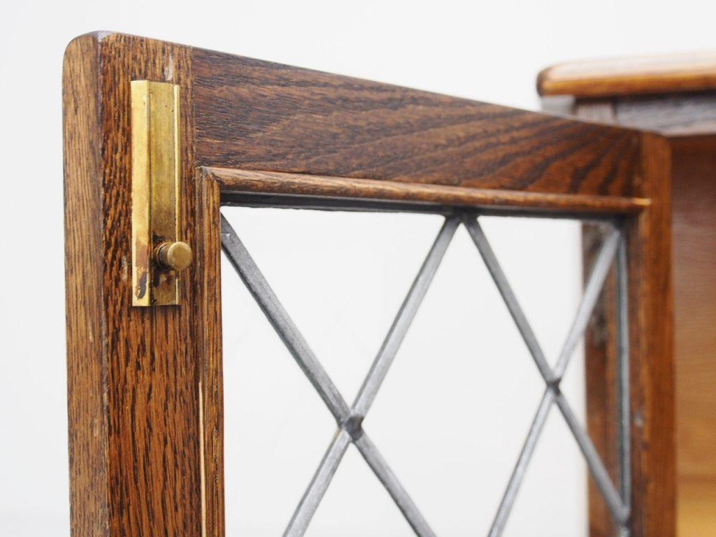 アンティーク家具 イギリスアンティーク ブックケース 書庫 ディスプレイ 本棚 ステンドグラス
