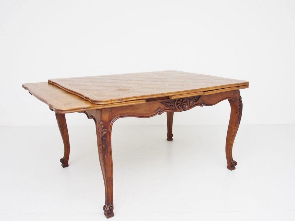 アンティーク家具 イギリスアンティーク ドローリーフテーブル ダイニングテーブル エクステンションテーブル フレンチ パーケットリー 猫脚