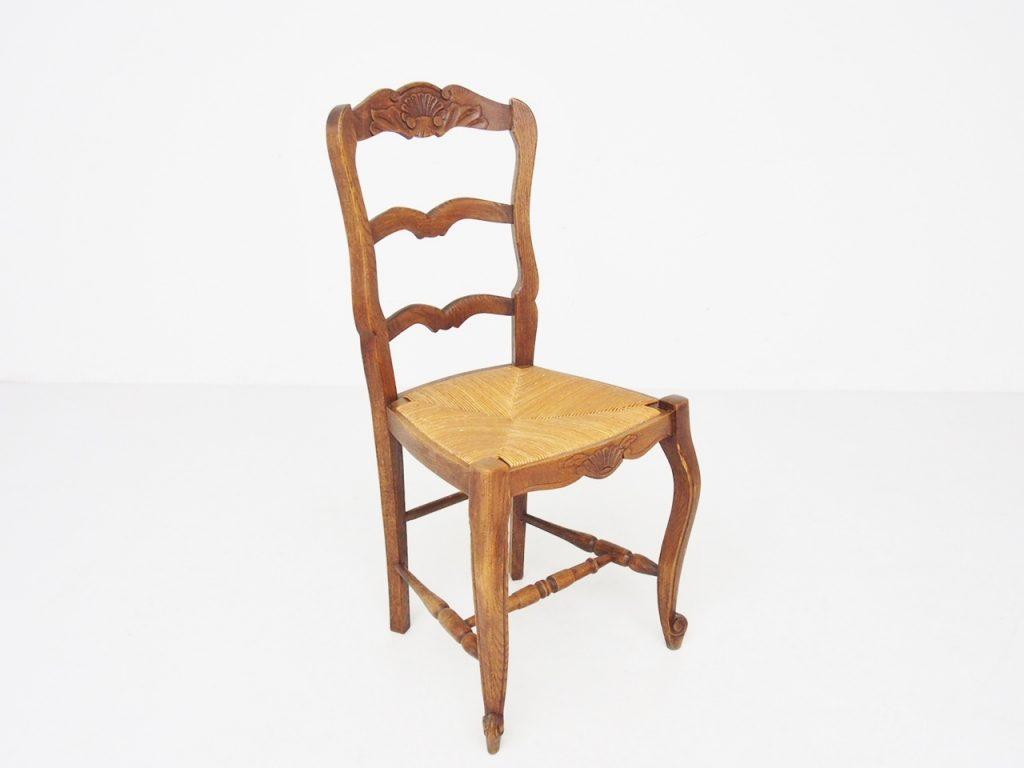 アンティーク家具 フレンチアンティーク ダイニングチェア チェア ラッシュシート 椅子 イス