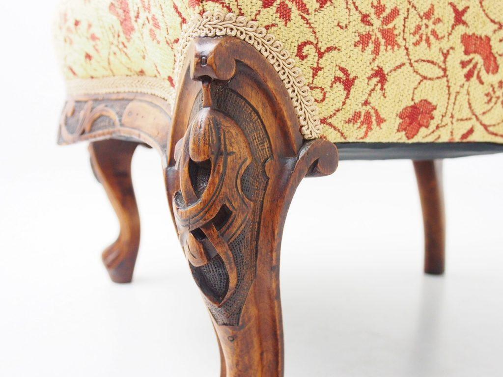 アンティーク家具 イギリスアンティーク ナーシングチェア 一人掛けソファ レディースソファ ヴィクトリアンソファ