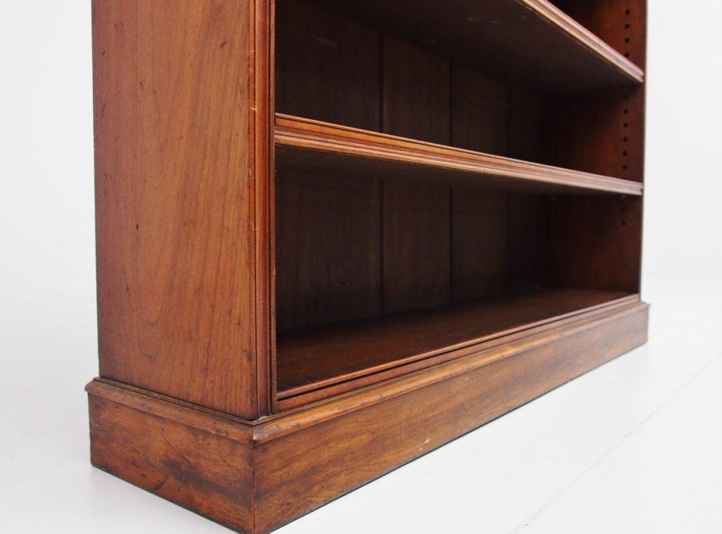 アンティーク家具 イギリスアンティーク ブックシェルフ オープンブックシェルフ 本棚 ウォールナット 収納