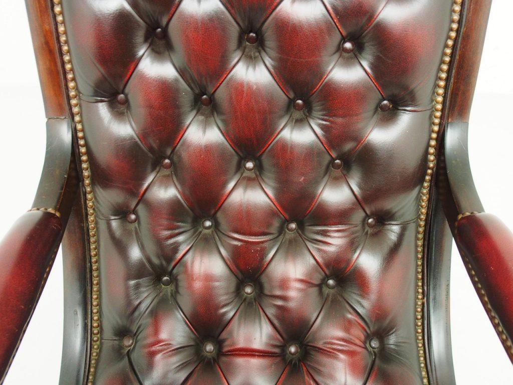 アンティーク家具 イギリスアンティーク チェスターフィールド ロッキングチェア レザーチェア
