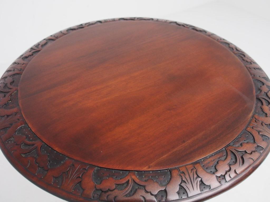 アンティーク家具 イギリスアンティーク マホガニー ティーテーブル サトリポッド ワインテーブル ランプテーブル