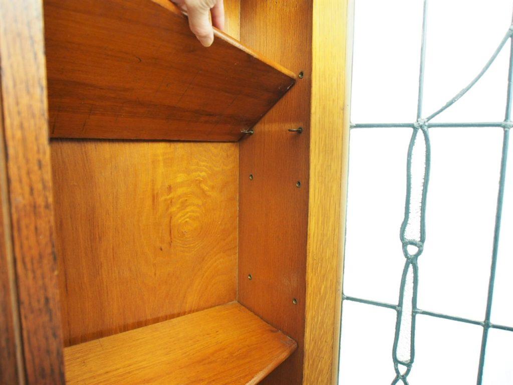 アンティーク家具 イギリスアンティーク ブックケース アールヌーボー キャビネット ディスプレイ 店舗什器 収納 オーク