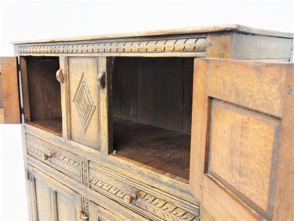 アンティーク家具 イギリスアンティーク カップボード 収納 収納庫 サイドボード 食器棚 ipswich