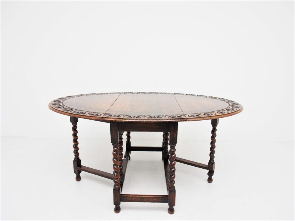 カーヴドオーク ゲートレッグテーブル / 19120102021