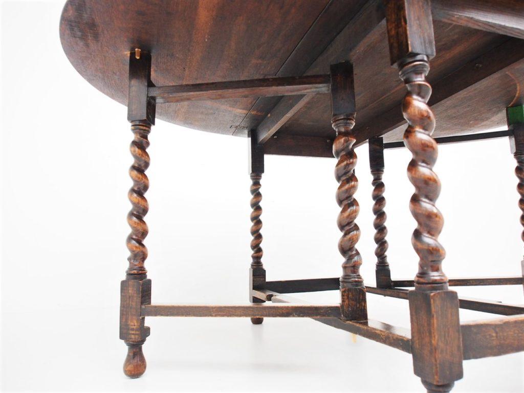 アンティーク家具 イギリスアンティーク ダイニングテーブル 折り畳みテーブル ゲートレッグテーブル Gatelegtable バタフライテーブル
