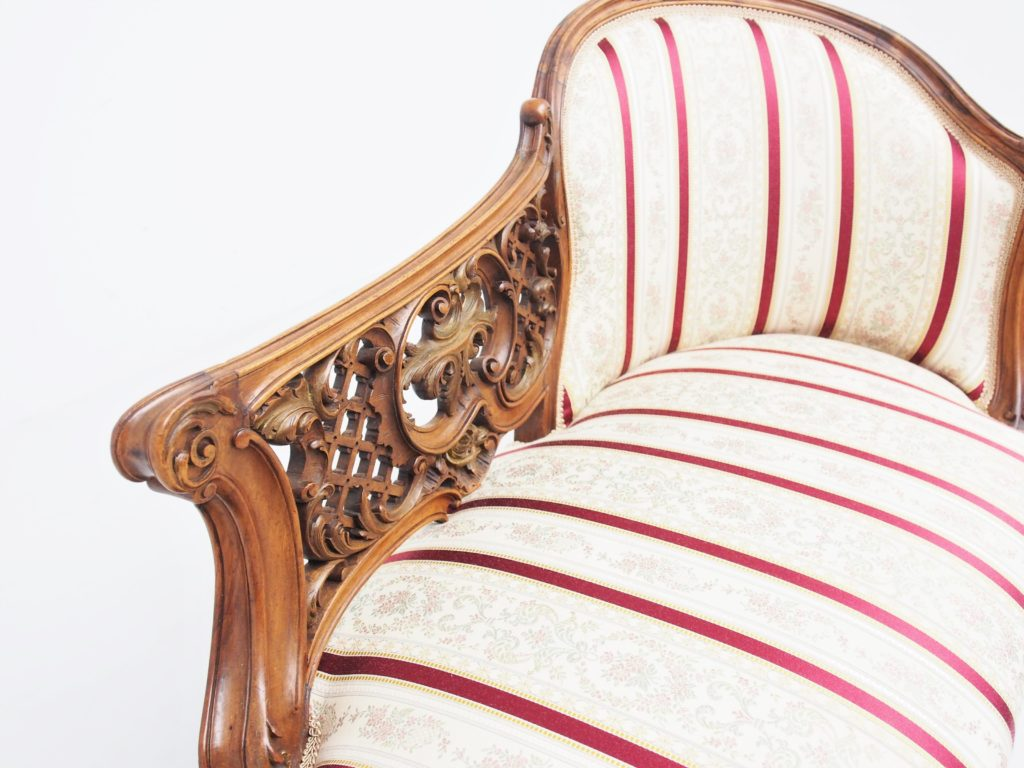 アンティーク家具 イギリスアンティーク シェーズロング カウチ ソファ chaiselong スモールソファ