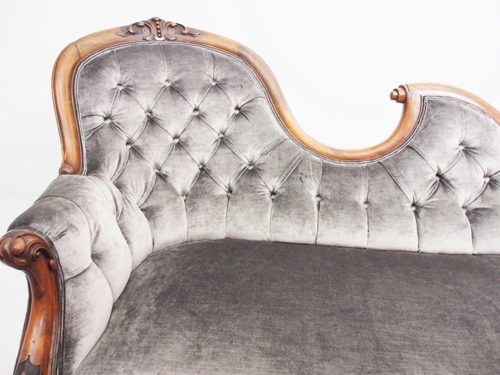 アンティーク家具 イギリスアンティーク ヴィクトリアン セティ ソファ カウチソファ シェーズロング