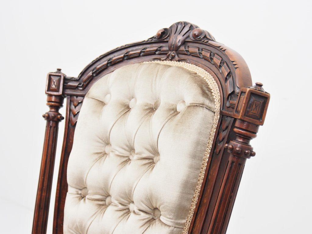 アンティーク家具 イギリスアンティーク ヴィクトリアン ナーシングチェア ナーサリーチェア レディースチェア 一人掛け チェア ソファ サロンチェア