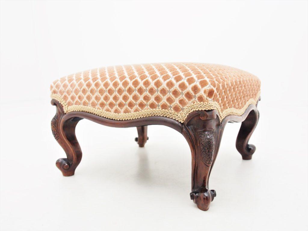 アンティーク家具 イギリスアンティーク フットスツール ドールチェア クッション付きスツール victorian footstool stool