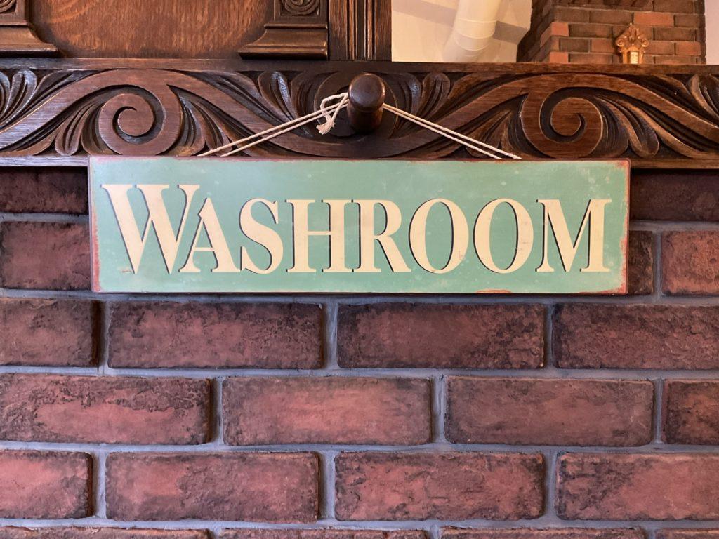 "Vintage Sign ""WASHROOM""/14050310101"