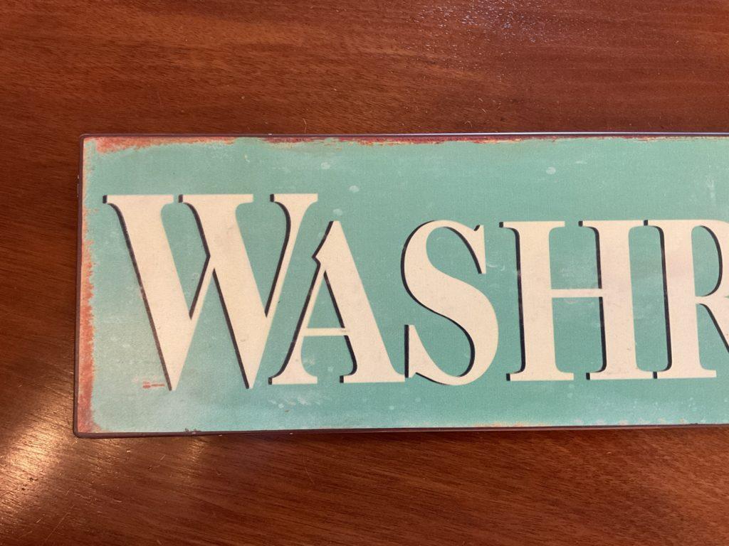 ブリキ 看板 ヴィンテージ ビンテージ サイン 洗面所 ウォッシュルーム DIY おしゃれ インテリア