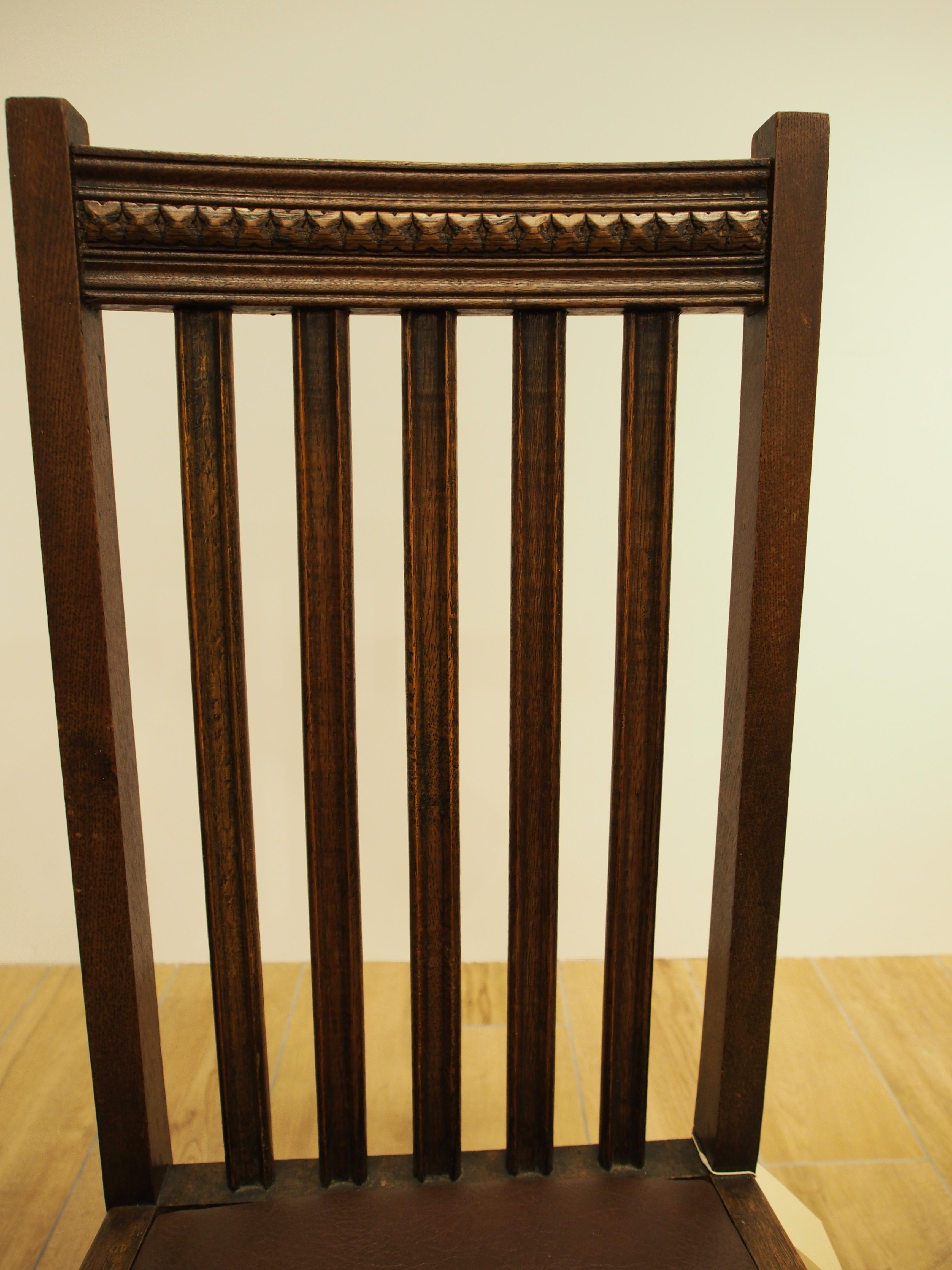 オークダイニングチェア オークチェア ダイニングチェア ハイバックチェア アンティークチェア カントリーチェア ソリッドオーク ボビンレッグ イギリスアンティーク イギリス家具 英国アンティーク 英国家具 西欧アンティーク 西欧家具 西洋アンティーク 西洋家具 UK家具 UKアンティーク 食卓椅子 ヨーロッパ家具