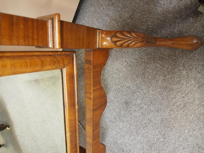 シュバルミラー 姿見 スタンドミラー ウォルナット アンティーク家具