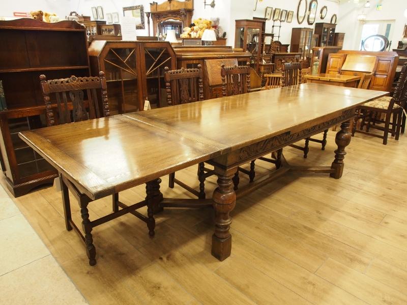 ドローリーフテーブル ダイニングテーブル エクステンションテーブル アンティーク家具 イギリスアンティーク