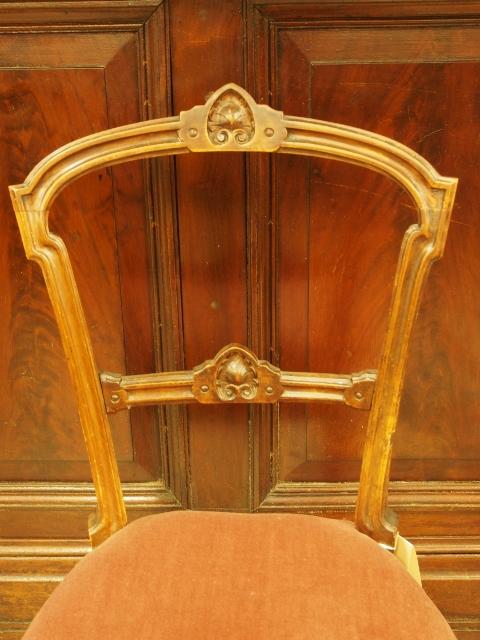アンティーク家具 箕面 チェア ダイニンングチェア 椅子 イス ヴクトリアンチェア ウォルナット ヴィクトリアン スイカズラ 彫刻 カービング ヴィンテージ家具 ビンテージ家具 イギリスアンティーク イギリス 英国家具 イギリス家具