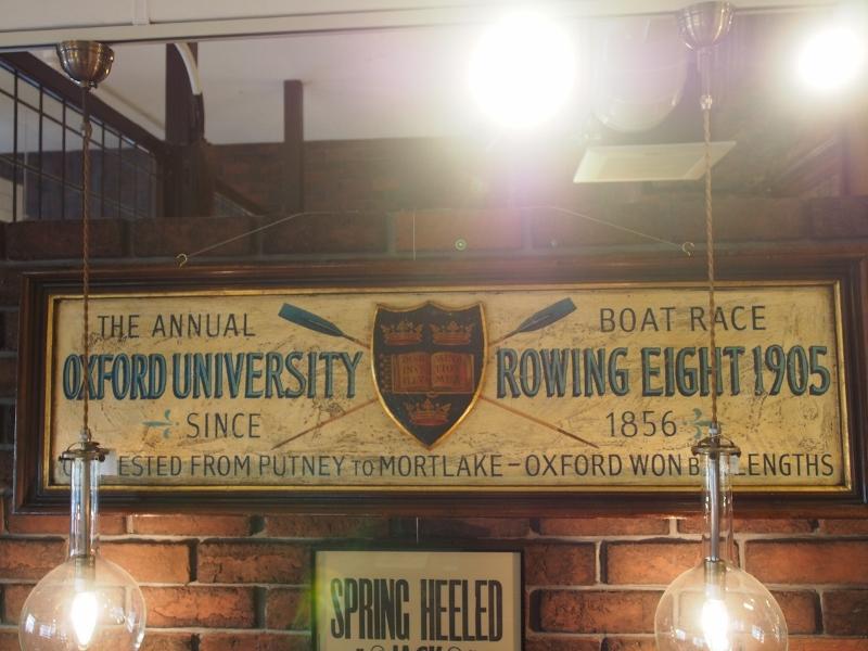 ボート看板 アンティーク サイン オックスフォード 看板 アンティーク看板 ヴィンテージ看板 アンティーク小物