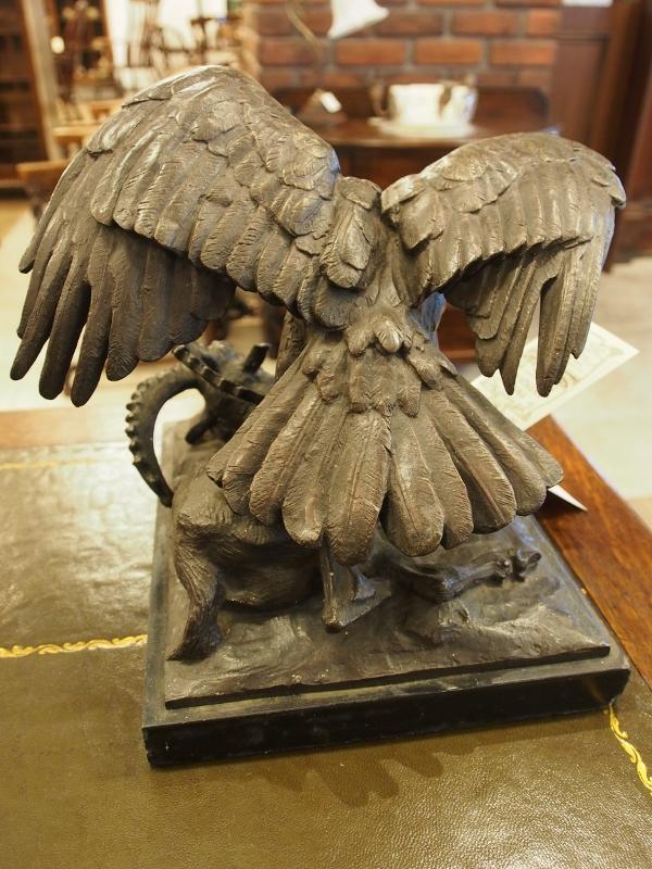 ブロンズ 鷹 ヴィクトリアンブロンズ ブロンズ彫像 ブロンズ アンティークブロンズ アンティーク イギリスアンティーク
