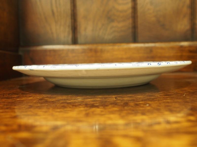 ディッシュ 皿 プレート ブルーアンドホワイト アンティークディッシュ ヴィンテージディッシュ アンティーク