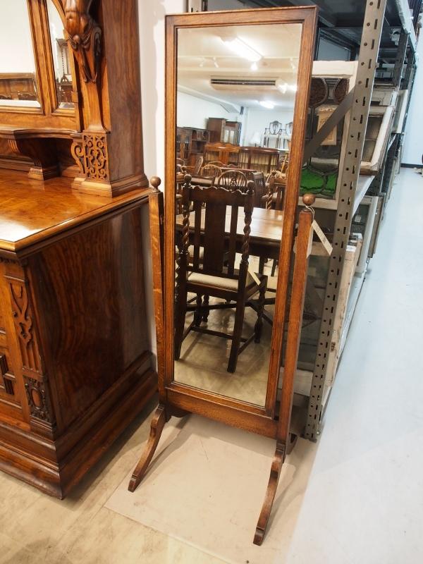 アンティーク家具 箕面 ミラー 鏡 姿見 ヴィンテージ家具 ビンテージ家具 イギリス イギリスアンティーク 英国家具 イギリス家具