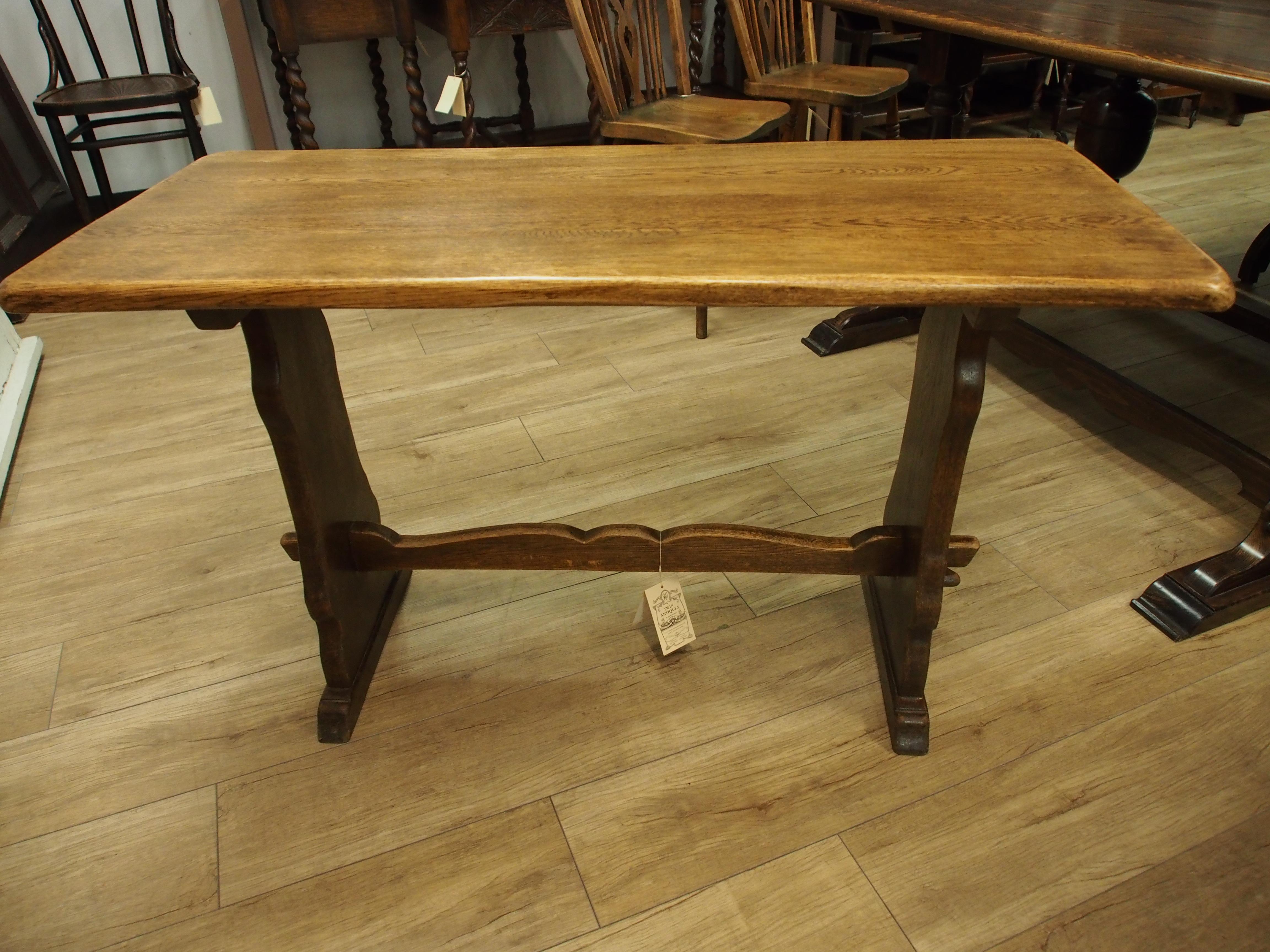アンティーク家具 箕面 リフェクトリーテーブル ダイニングテーブル テーブル 二本脚 ソリッドオーク カントリー ヴィンテージ家具 ビンテージ家具 イギリスアンティーク イギリス 英国家具 イギリス家具