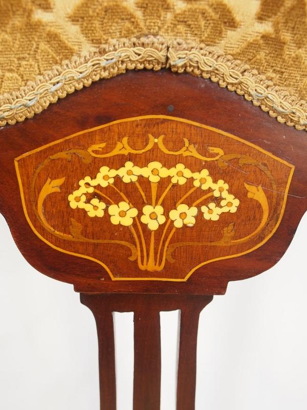 アンティーク家具 箕面 チェア 椅子 イス ハイバックチェア 一人掛け アールヌーヴォー 透かし彫り マーケットリー アーツアンドクラフツ マホガニー ヴィンテージ家具 ビンテージ家具 イギリス イギリスアンティーク家具 英国家具 イギリス家具