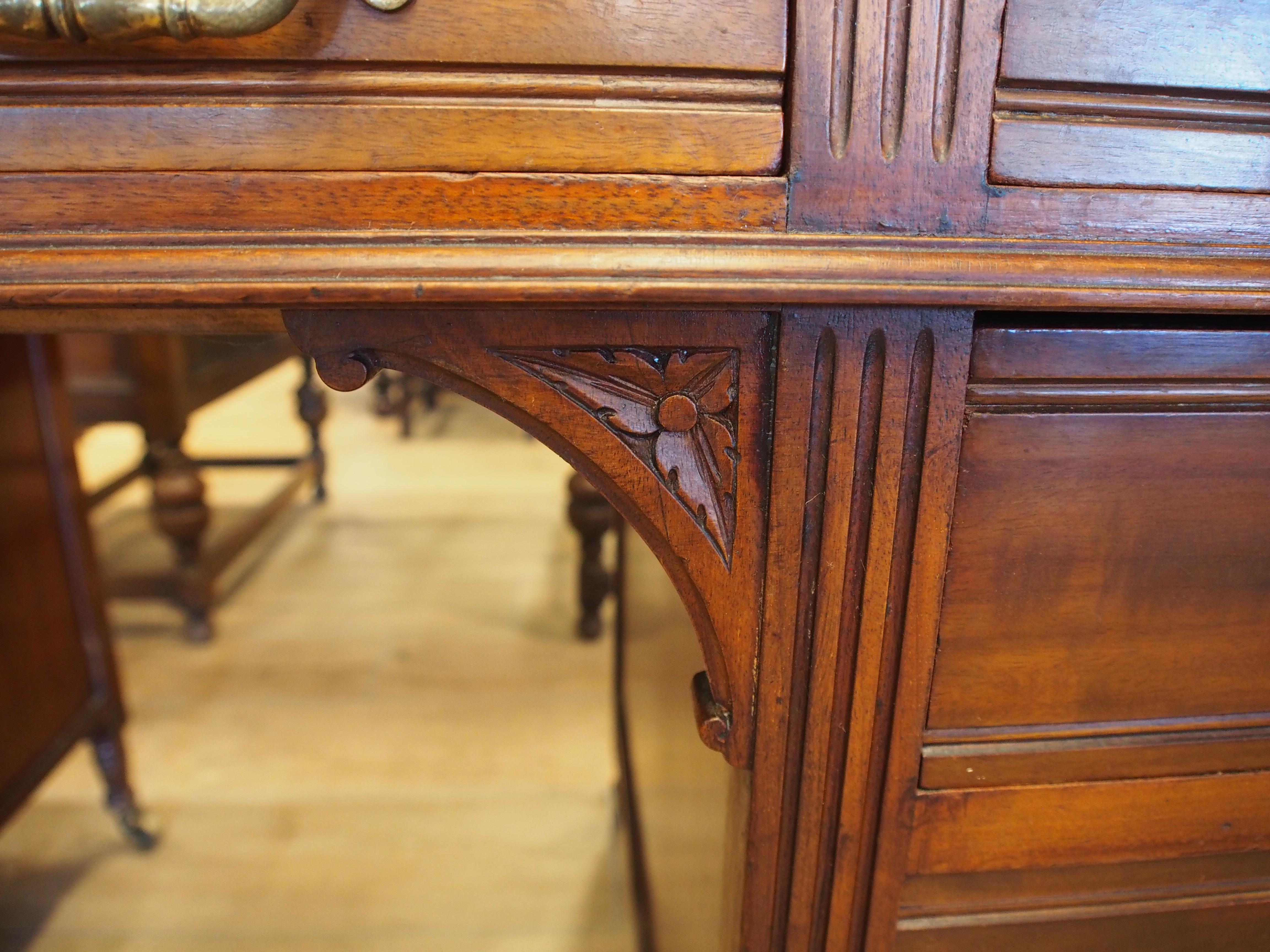 アンティーク家具 デスク パソコンデスク 机 マホガニー ビンテージ家具 メイプル社 イギリスアンティーク
