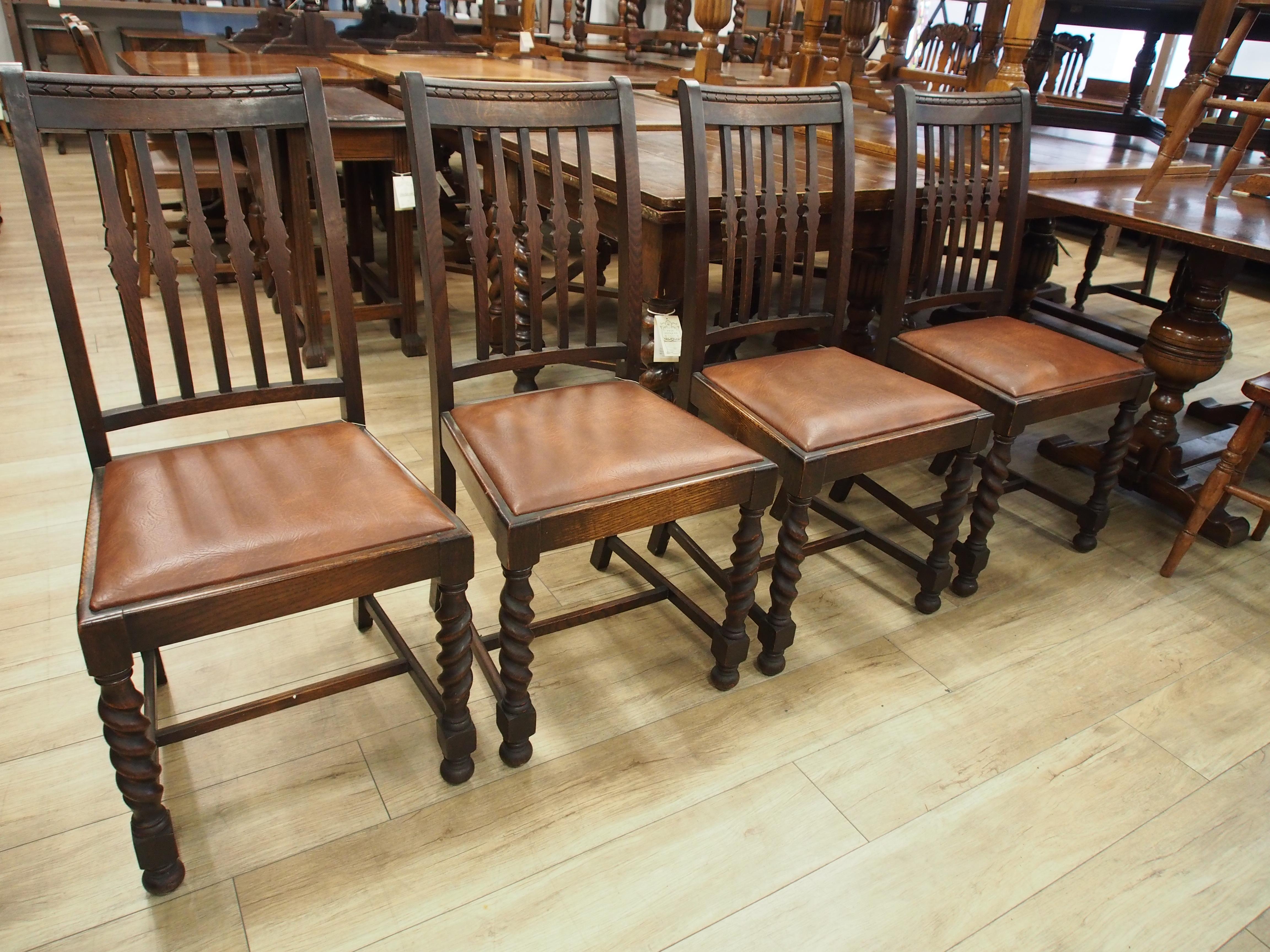 アンティーク家具 大阪 箕面 チェア ダイニンングチェア 椅子 イス ツイストレッグ 彫刻 ヴィンテージ家具 ビンテージ家具 イギリスアンティーク家具  イギリス 英国家具 イギリス家具