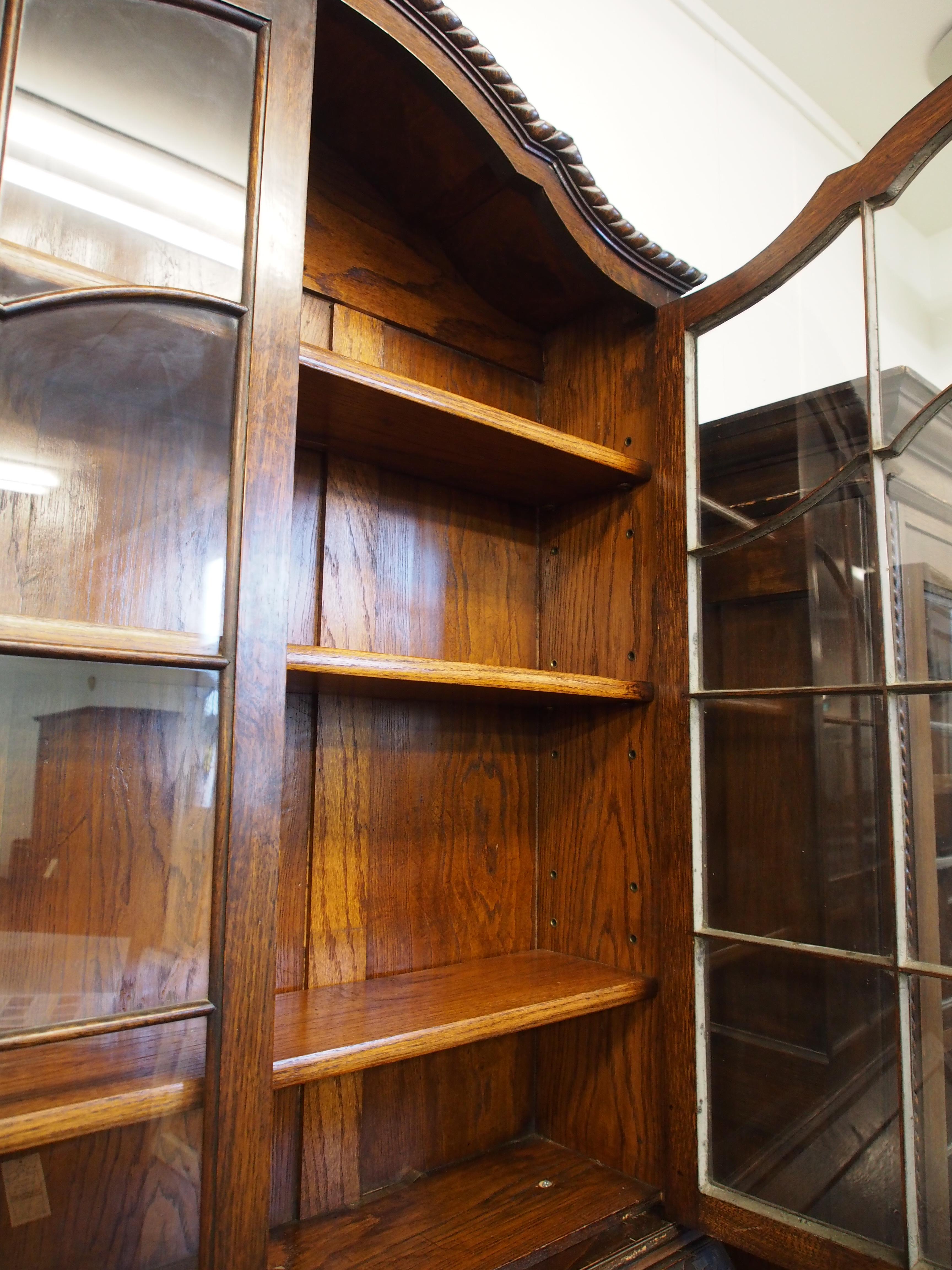 アンティーク家具 箕面 ビューロー ブックケース キャビネット カップボード 本棚 収納 オーク ジョージアンスタイル ヴィンテージ家具  ビンテージ家具 イギリスアンティーク家具 英国家具 イギリス家具 antique antiquefurnuture