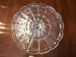 ガラスケーキスタンド ケーキスタンド ケーキ皿 菓子入れ 菓子皿 フルーツ皿 ガラス皿 アンティーク