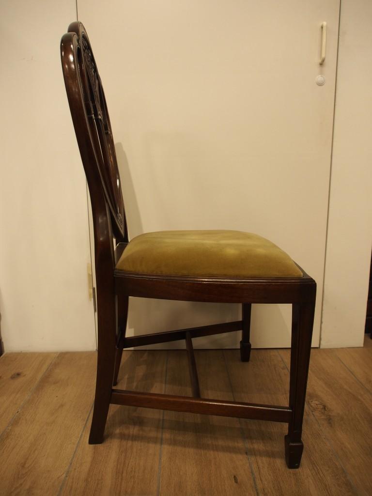 アンティーク家具 箕面 チェア 椅子 イス 一人がけ シェラトンスタイル トーマスシェラトン プリンスオブウェールズ マホガニー ヴィンテージ家具 ビンテージ家具 イギリスアンティーク イギリス 英国家具 イギリス家具