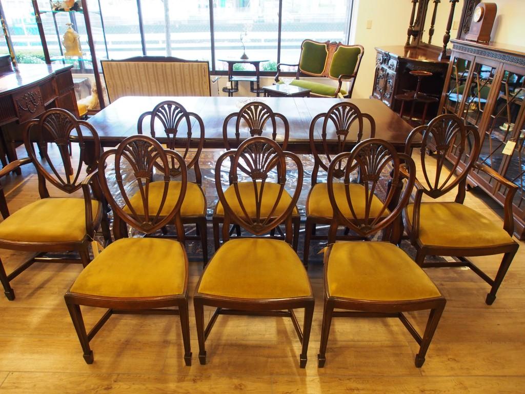 アンティーク家具 箕面 アームチェア チェア 椅子 イス 肘掛け椅子 一人がけ シェラトンスタイル トーマスシェラトン プリンスオブウェールズマホガニー ヴィンテージ家具 ビンテージ家具 イギリスアンティーク イギリス 英国家具 イギリス家具