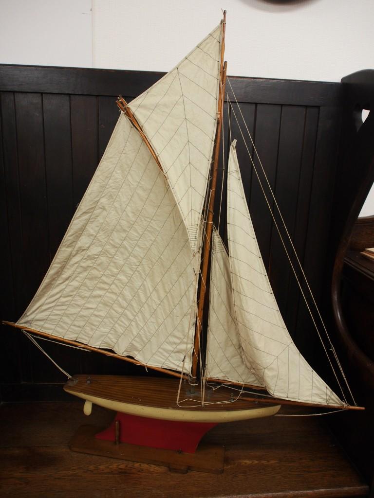 アンティーク ヨット ヨット模型
