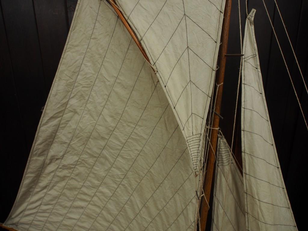 アンティーク ヨット ヨット模型ディスプレイ