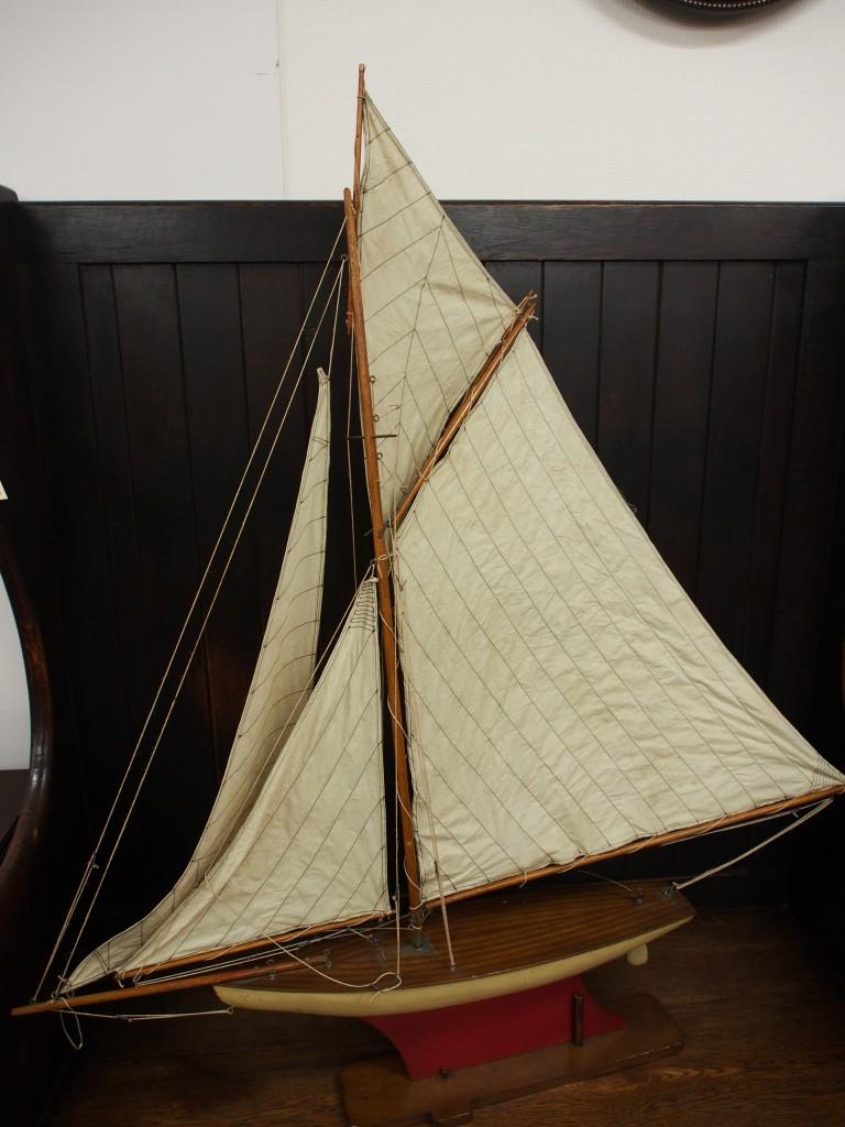 アンティーク ヨット ヨット模型 ディスプレイ
