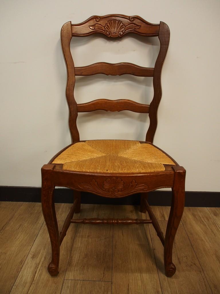 アンティーク家具 大阪 チェア ダイニンングチェア 椅子 イス ストロー 編み込み ラッシュ  彫刻 シェル ヴィンテージ家具 ビンテージ家具 イギリスアンティーク イギリス 英国家具 イギリス家具