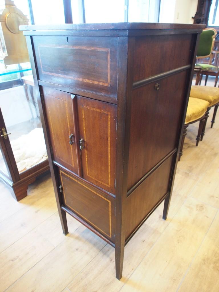アンティーク家具 ガラード レコードキャビネット ターンテーブル GARRARD レコード 蓄音機 イギリスアンティーク家具 antique