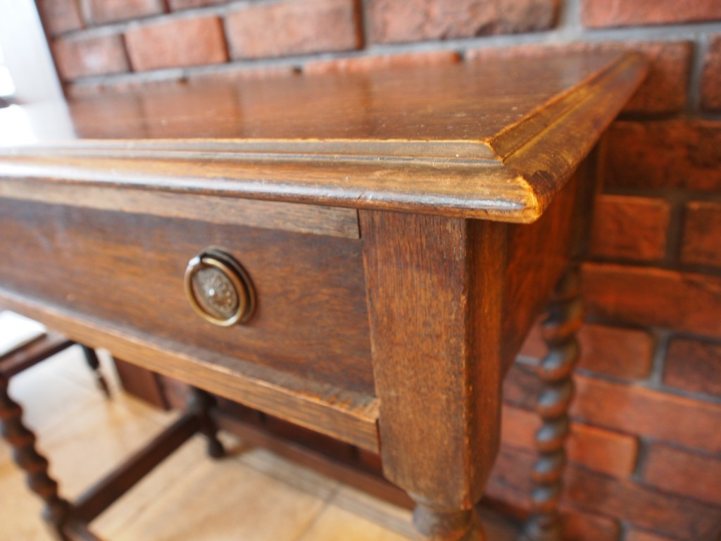 アンティーク家具 ホールテーブル 大阪 デスク 机 オケージョナル オーク カントリー ヴィンテージ家具 ビンテージ家具 イギリス イギリスアンティーク 英国家具 イギリス家具