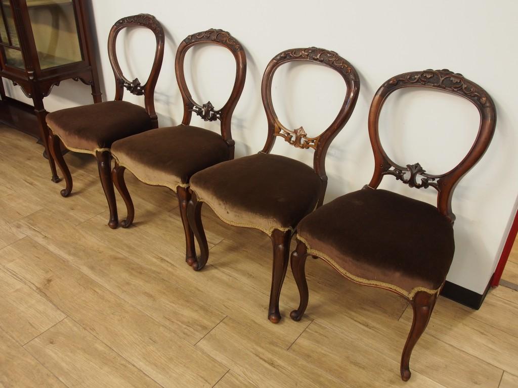 アンティーク家具 ウォールナット チェア イス 椅子 ダイニングチェア ヴィクトリアン ツインアンティークス twinantiques 大阪